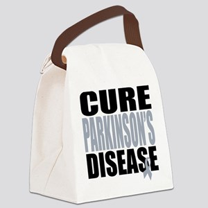 2-Cure-Parkinsons-Cancer Canvas Lunch Bag