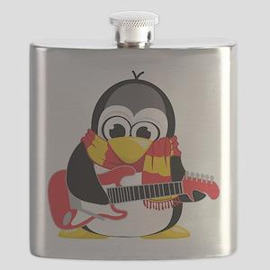 Electric-Guitar-Penguin-Scarf Flask