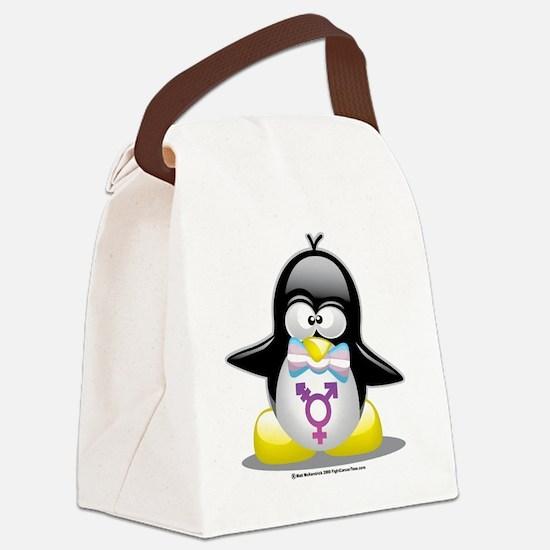 Transgender-Penguin.png Canvas Lunch Bag