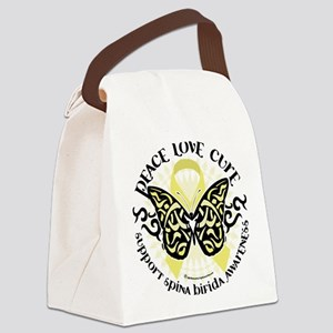 Spina-Bifida-Tribal-Butterfly Canvas Lunch Bag
