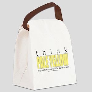 think-PALE-YELLOW-Spina-Bifida Canvas Lunch Ba