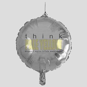 think-PALE-YELLOW-Spina-Bifida Mylar Balloon