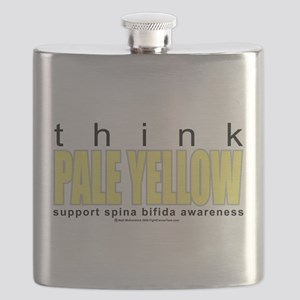 think-PALE-YELLOW-Spina-Bifida Flask