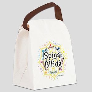 Spina-Bifida-Lotus Canvas Lunch Bag