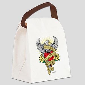 Spina-Bifida-Dagger Canvas Lunch Bag