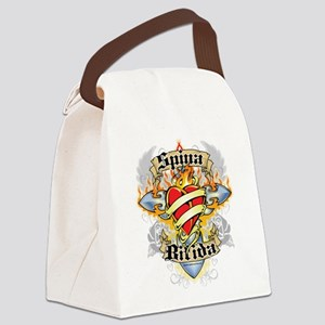 Spina-Bifida-Cross--Heart Canvas Lunch Bag