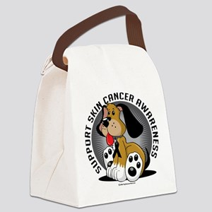 Skin-Cancer-Dog Canvas Lunch Bag