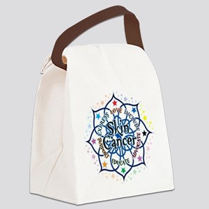 Skin-Cancer-Lotus Canvas Lunch Bag