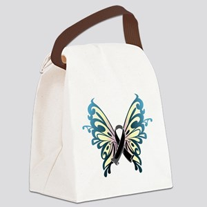 Skin-Cancer-Butterfly Canvas Lunch Bag