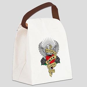 2-Skin-Cancer-Dagger Canvas Lunch Bag