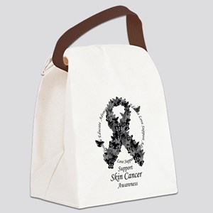 2-Skin-Butterfly-Ribbon Canvas Lunch Bag