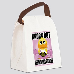 Knock-Out-Testicular-Cancer Canvas Lunch Bag