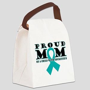 Tourette's Proud Mom Canvas Lunch Bag