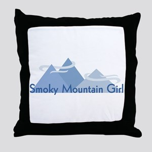 Smoky Mountain Girl Throw Pillow