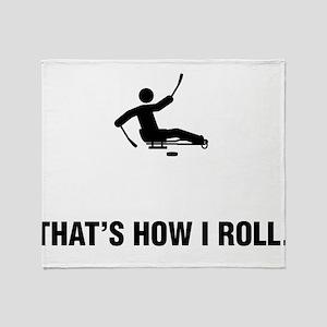 Sled Hockey Throw Blanket