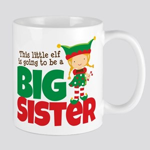 Elf going to be a Big Sister Mug