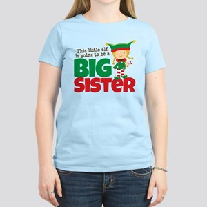 Elf going to be a Big Sister Women's Light T-Shirt