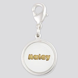 Haley Toasted Silver Round Charm