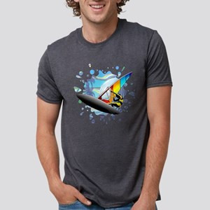 Windsurfer on Ocean Waves Mens Tri-blend T-Shirt