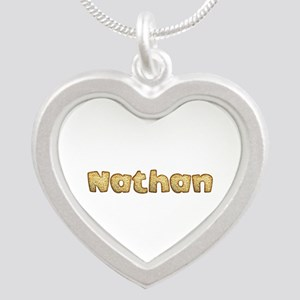 Nathan Toasted Silver Heart Necklace