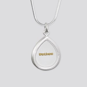 Nathan Toasted Silver Teardrop Necklace