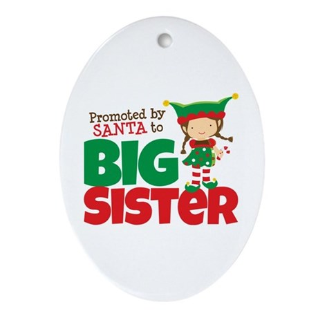 Elf Big Sister To Be Ornament (Oval)