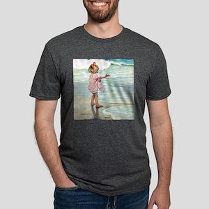 A Child at the Beach_SQ Mens Tri-blend T-Shirt
