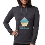 Daddys Little Cupcake Womens Hooded Shirt