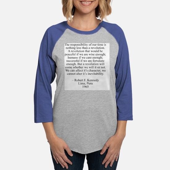 robertKennedyShirt.jpg Womens Baseball Tee