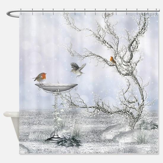 Winter Feeling Shower Curtain