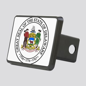 Great Seal of Delaware Rectangular Hitch Cover