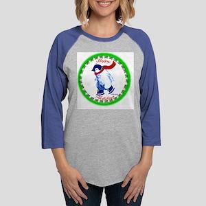 QQQ-HappyHolidays-Penguin Womens Baseball Tee
