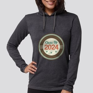 Class Of 2024 Vintage Womens Hooded Shirt