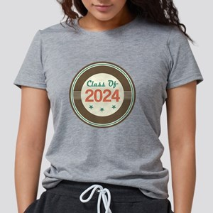 Class Of 2024 Vintage Womens Tri-blend T-Shirt