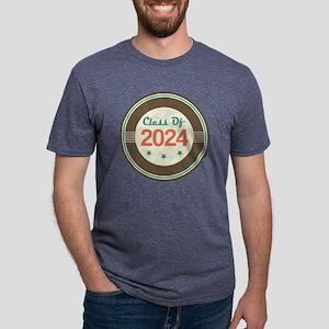 Class Of 2024 Vintage Mens Tri-blend T-Shirt