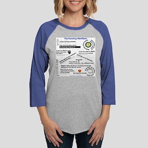 The Running Manifesto Shirt 20 Womens Baseball Tee