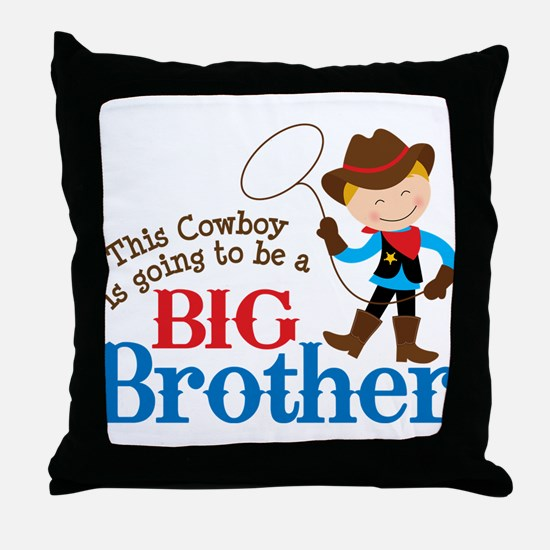 Cowboy Big Brother To Be Throw Pillow