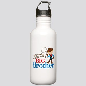 Cowboy Big Brother To Be Stainless Water Bottle 1.