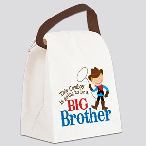 Cowboy Big Brother To Be Canvas Lunch Bag