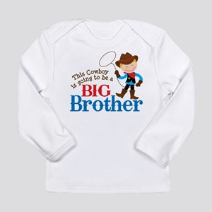 Cowboy Big Brother To Be Long Sleeve Infant T-Shir