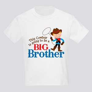 Cowboy Big Brother To Be Kids Light T-Shirt