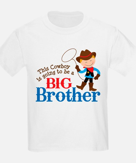 Cowboy Big Brother To Be T-Shirt
