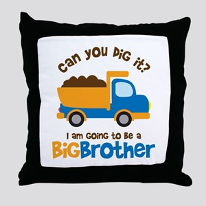 Dump truck Big Brother To Be Throw Pillow