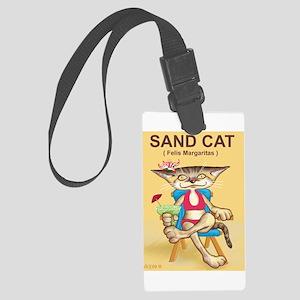 Sand cat - Large Luggage Tag