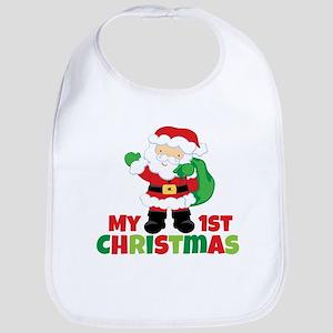Santa Babies 1st Christmas Bib