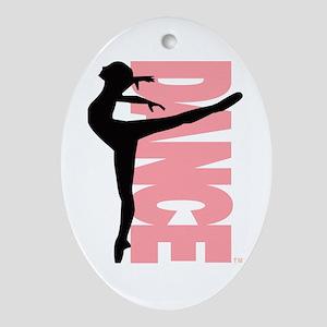 Beautiful Dance Figure Ornament (Oval)