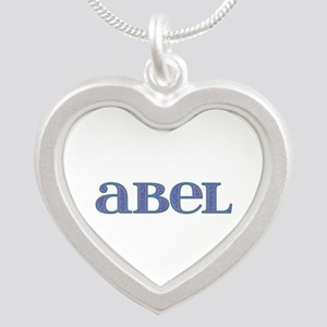 Abel Blue Glass Silver Heart Necklace