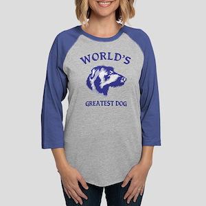 Scottish DeerhoundH Womens Baseball Tee