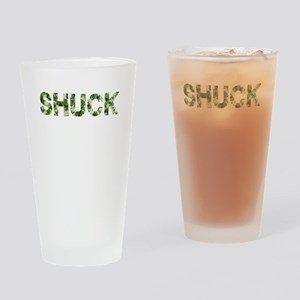 Shuck, Vintage Camo, Drinking Glass