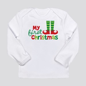 Elf Feet Babies 1st Christmas Long Sleeve Infant T